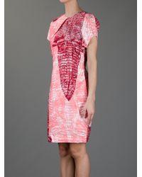 Acne Studios - Pink Sweety Kroko Dress - Lyst