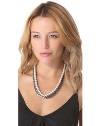 Adia Kibur   White Chiffon Chain Necklace   Lyst