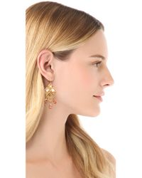 Alexis Bittar - Metallic Floral Lace Drop Earrings - Lyst
