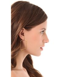 Alexis Bittar - Metallic New Wave Angled Hoop Earrings - Lyst