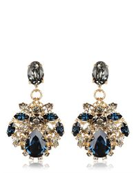 Anton Heunis | Blue Janelle Swarovski Crystal Drop Earrings | Lyst
