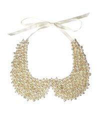 ASOS | Natural Pearl Peter Pan Collar | Lyst