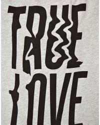 ASOS - Gray Tshirt with Blurred True Love - Lyst