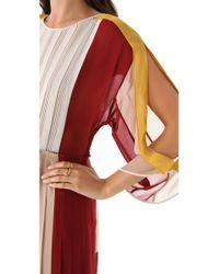 BCBGMAXAZRIA - Multicolor Gwenna Colorblock Dress - Lyst