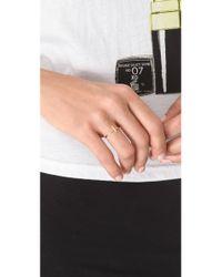 Bing Bang - Metallic Cross Mini Stack Ring - Lyst