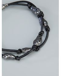 Bottega Veneta - Black Engraved Bead Bracelet for Men - Lyst