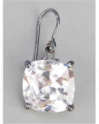 Bottega Veneta - Metallic Zircon Pendant Earring - Lyst
