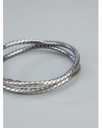 Bottega Veneta | Metallic Woven Bracelets | Lyst