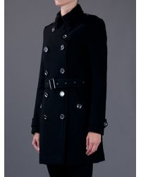 Burberry Brit - Black Balmoral Coat - Lyst