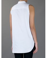 Carin Wester - White Sara Sleeveless Blouse - Lyst
