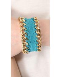CC SKYE - Metallic Single Thompson Wrap Bracelet - Lyst