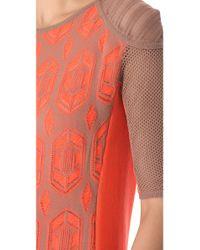 Dagmar   Orange Dita Lace Knit Dress   Lyst