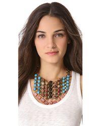 DANNIJO - Metallic Logan Bib Necklace - Lyst