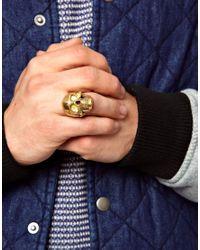 Simon Carter | Metallic Deadrise Skull Ring for Men | Lyst