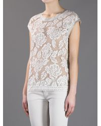 Dolce & Gabbana | White Lace Top | Lyst