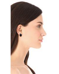 Elizabeth and James - Black Berlin Oval Cabochon Stud Earrings - Lyst