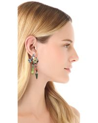 Erickson Beamon - Metallic Weve Got The Power Flower Spike Earrings - Lyst