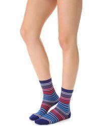 Falke - Blue Family Striped Ankle Socks - Lyst