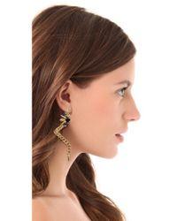 Fallon - Metallic Pointed Drops Earrings - Lyst
