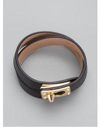 Fendi | Black Double Wrap Bracelet | Lyst