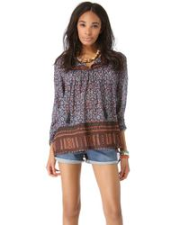 Free People | Red Dream Lover Tunic | Lyst