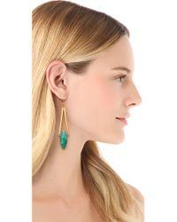 Gemma Redux - Green Turquoise Drop Earrings - Lyst
