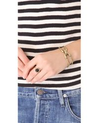Giles & Brother - Metallic Double Cortina Bracelet - Lyst