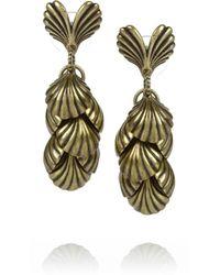 Giles & Brother | Metallic Siren Gold-Tone Tiered Seashell Drop Earrings | Lyst
