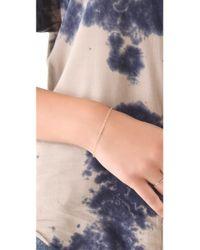 Ginette NY - Metallic Horiztonal Diams Strip Bracelet - Lyst