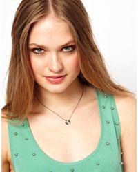 Gorjana - Metallic Grey Petal Necklace for Men - Lyst
