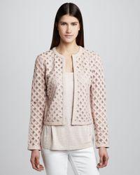 Grayse - Pink Womens Madison Leather Jacket - Lyst