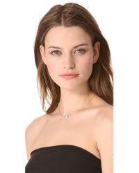 Heather Hawkins | Blue Tiny Gemstone Necklace | Lyst