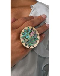 House of Harlow 1960 - Metallic Abalone Sunburst Cocktail Ring - Lyst