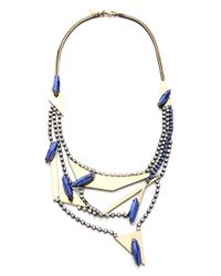 Iosselliani - Metallic Multi Strand Crystal Necklace - Lyst