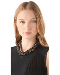 Iosselliani - Multicolor Twisted Multiwires Necklace - Lyst