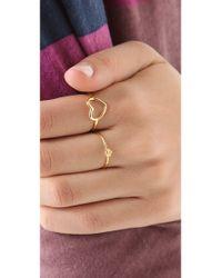 Jacquie Aiche - Multicolor Diamond Flower Ring - Lyst