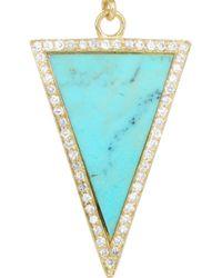 Jennifer Meyer - Metallic 18 Karat Gold Turquoise and Diamond Earrings - Lyst