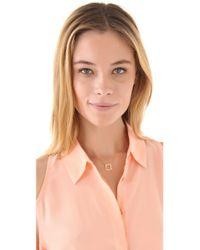 Jennifer Zeuner - Metallic Small Open Square Necklace - Lyst