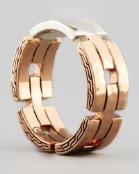 John Hardy - Metallic Palu Sterling Silver Bronze Geometric Band Ring - Lyst