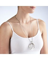 John Lewis | Metallic Multi Hoop Pendant Long Necklace | Lyst