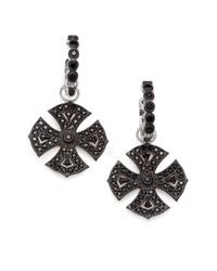 Jude Frances | Black Sapphire Maltese Earring Charms | Lyst
