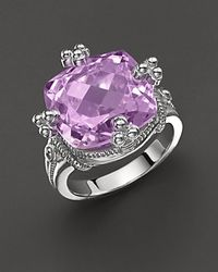 Judith Ripka | Purple Olivia Ring with Amethyst Stone | Lyst