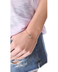 Juicy Couture - Metallic Pave Butterfly Bracelet - Lyst