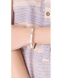 Kristen Elspeth - Metallic Oval Bangle Bracelet - Lyst