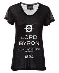 Libertine | Black Printed T-shirt | Lyst