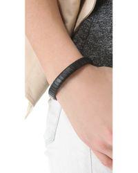 Linea Pelle | Black Jesse Leather Bracelet | Lyst