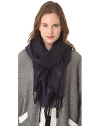 Love Quotes | Gray Linen Eyelash Scarf | Lyst