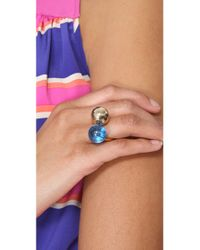 Marc By Marc Jacobs - Blue Ball Chains Double Ring - Lyst