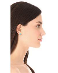 Marc By Marc Jacobs - Metallic Enamel Logo Disc Stud Earrings - Lyst