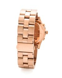 Marc By Marc Jacobs - Pink Large Blade Chrono Watch - Lyst